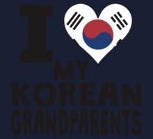 I Heart My Korean Grandparents One Piece - Long Sleeve