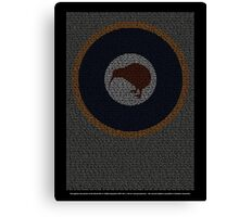 Roll of Honour 75(NZ) Squadron RNZAF 'Kiwi' Canvas Print