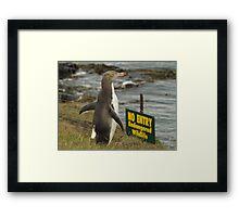 keep out Framed Print