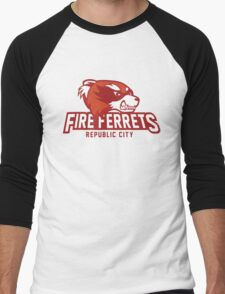 Republic City Fire Ferrets Men's Baseball ¾ T-Shirt