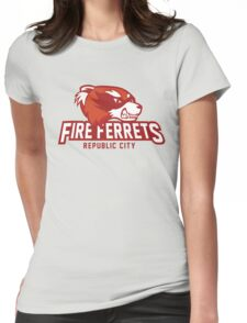 Republic City Fire Ferrets Womens Fitted T-Shirt