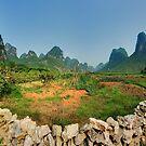 Peaceful valley near Yangshuo by Simon Bowen