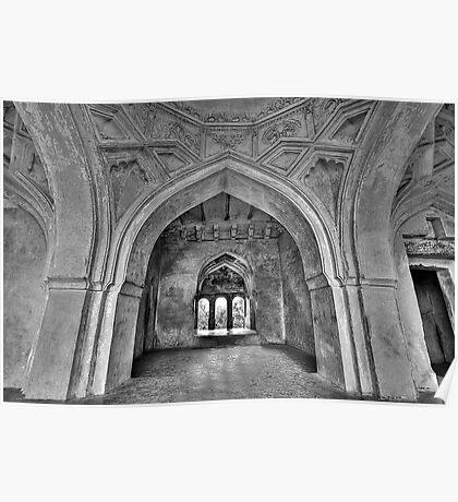 The arches of Sajja Kothi - Fort Panhala Poster