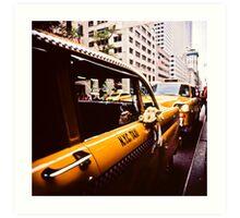 Vintage NYC Taxi Art Print