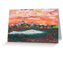 Banff Sunsets Greeting Card