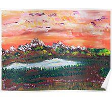 Banff Sunsets Poster