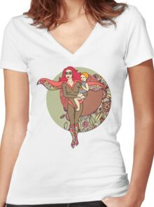 Alter Ego 2 Women's Fitted V-Neck T-Shirt