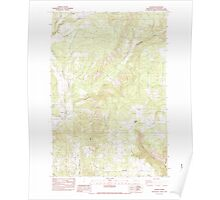USGS Topo Map Washington State WA Husum 241637 1983 24000 Poster
