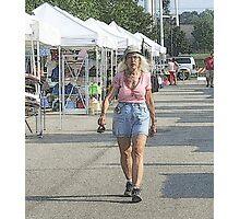 Walking Through The Market Photographic Print