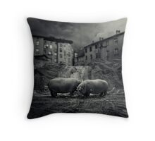 .workers. Throw Pillow
