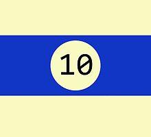 Billiard ball n.10 by AdarvePhtcllage