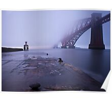 Fog bank on the River Forth, Scotland Poster