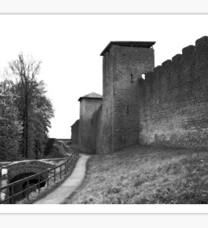 Black and White Castle Sticker