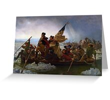 Washington Crossing the Delaware Painting Greeting Card