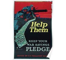 Help them keep your war savings pledge Poster