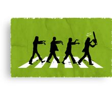 Zombies on Abbey Road Version 01 Canvas Print