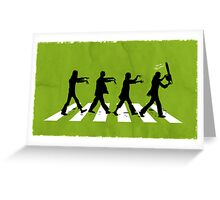 Zombies on Abbey Road Version 01 Greeting Card