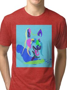 Dog- colour dog Tri-blend T-Shirt