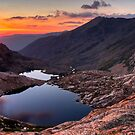 Sunset from Columbine Lake at 10,900 ft by Benjamin Curtis