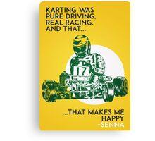 Senna Karting Canvas Print