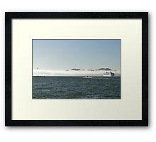 Fog In, Ship Out Framed Print