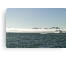 Fog In, Ship Out Canvas Print