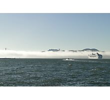 Fog In, Ship Out Photographic Print