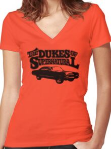 Dukes of Supernatural - light colors Women's Fitted V-Neck T-Shirt