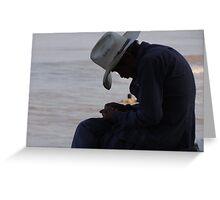 The Old Man And The Ocean - El Hombre Viejo Y El Oceano Greeting Card