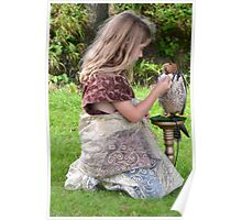 The Gentle Touch Of A Young Falconer In The Making Poster