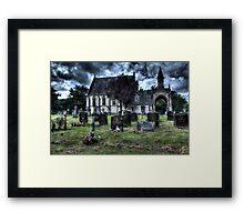 Cemetery (HDR) Framed Print