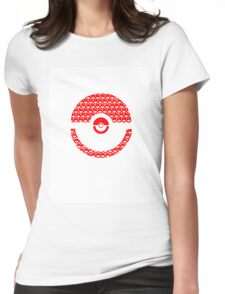 Pokeball Inception Womens Fitted T-Shirt