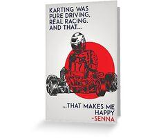Senna Karting Greeting Card