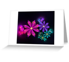 August Flowers Greeting Card