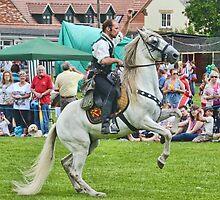 White Horse  -   Charmouth Fun Day, Dorset. Uk by lynn carter