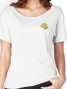 Preppy Dog Madras Golden Retriever Women's Relaxed Fit T-Shirt