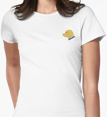 Preppy Dog Madras Golden Retriever Womens Fitted T-Shirt