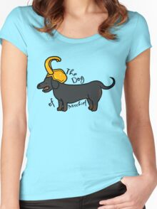 The Dog of Mischief  Women's Fitted Scoop T-Shirt