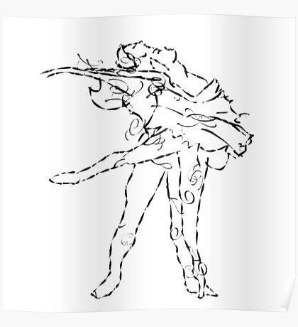 Ballet dancers Tchaikovsky : Swan Lake Poster