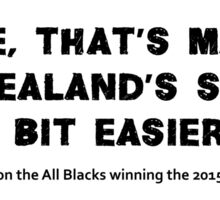 Scotty Stevenson's quote on New Zealand winning the 2015 Rugby World Cup Sticker