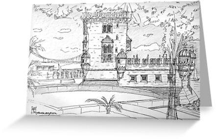 iPad case, Ipad deflector. Torre de Belém by terezadelpilar~ art & architecture