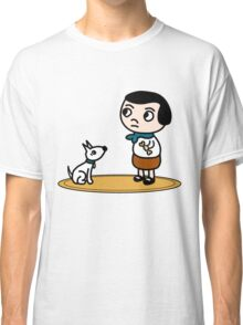 Girl and dog Classic T-Shirt