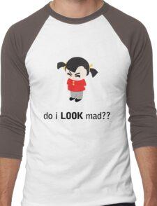 Angry Girl Men's Baseball ¾ T-Shirt