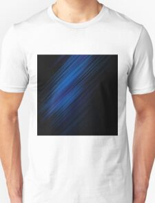 Wallpaper  Line Shadow Blue Black T-Shirt