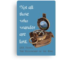 Not all Those who Wander are Lost, Tolkien, LOTR (plain background) Canvas Print