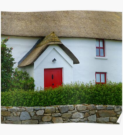 The Irish Thatched Cottage Poster