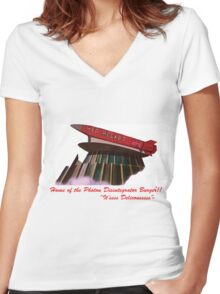 red rocket drive in Women's Fitted V-Neck T-Shirt
