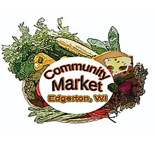 Community Market Photographic Print