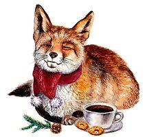 Coffee Fox by AnnaShell