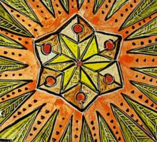 Ornate Mandala in Greens Sticker